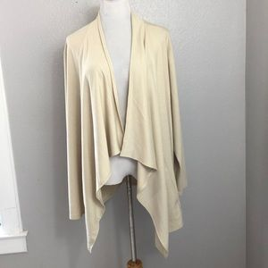 LOGO open lounge cardigan Ivory Plus Tunic 3X